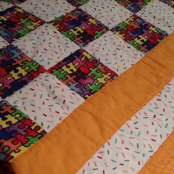 Folded neatly after washing.